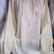 Стильна шифонова блузка з вишивкою купити Київ