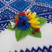 Украинские венки и цветы в волосы купить