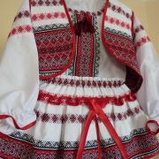 Костюм в украинском стиле тканый для девочки фото
