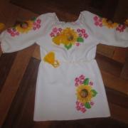 """Вишите плаття для дівчинки - """"Соняшники-квіти"""""""