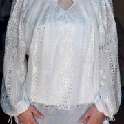 """Вышитая женская рубашка маркизет """"Воздух"""" марлевка фото"""