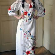 """Украинское платье с вышивкой """"Цветочная песня"""" фото"""