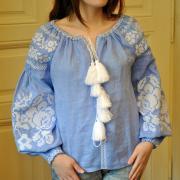 """Женская вышиванка на льне """"Цветочное облако"""" boho blouse buy"""