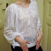 Маркизетовая блузка с рукавом 3/4 марлевка фото