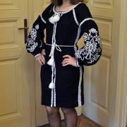 """Украинское платье бохо на льне """"Ночь"""" фото"""