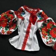 """Женская вышиванка с кружевом """"Кармелия"""" фото Крестик"""
