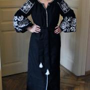 """Платье вышиванка в стиле бохо на домотканном полотне """"Царица"""" фото"""