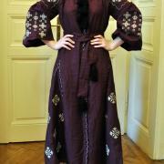 """Платье вышиванка в стиле бохо на льне """"Утонченность"""" купить Киев"""