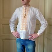 """Мужская вышитая сорочка """"Золото"""" фото"""