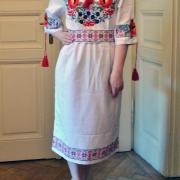 """Женское вышитое платье """"Цветочный луг"""" фото"""