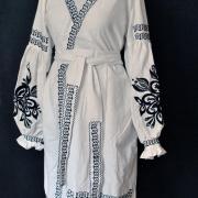 """Платье халат на запах в стиле бохо """"Классика"""" фото"""
