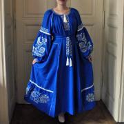 """Женское платье бохо на льне """"Райские птички"""" фото"""