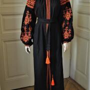 """Яркое женское вышитое платье бохо """"Оранж"""" в интернет-магазине Крестик"""