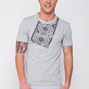 ФотоСерая футболка украинская счерным принтом