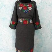 """Жіноче плаття в українському стилі """"Польові квіти"""" фото"""