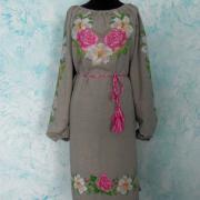 """Українське плаття """"Троянди та лілії"""" на замовлення"""