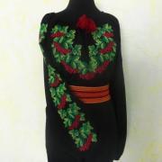 "Украинская вышиванка на шифоне ""калина красная"" фото"