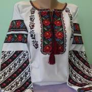 """Жіноча борщевская вишиванка """" Веселкова троянда"""" фото"""