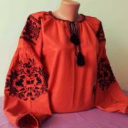 Вишита жіноча блуза Помаранчевий магніт фото