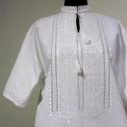 Мужская вышиванка белым по белому купить в интернет-магазине