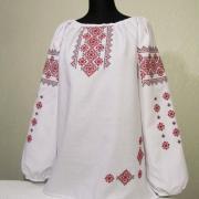 Женская вышиванка с нарядной вышивкой купить Киев