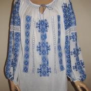 """Женская блузка на маркизете """"Синий лед"""" фото"""