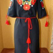"""Українське плаття вишиванка """"Макова пісня"""" фото"""