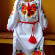 """Украинское платье вышитое """"Полевые цветы"""" фото"""