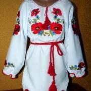 """Українське плаття на дівчинку """"Макова магія"""" фото"""