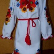"""Українське вишите плаття """"Польові квіти 1"""" фото"""