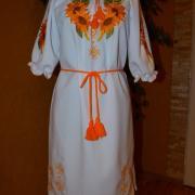 """Вишите жіноче плаття """"Ніжні соняшники"""" купити"""