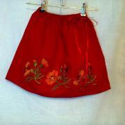 Красная юбка на девочку