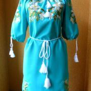 """Вишите українське жіноче плаття """"Місячні лілії"""" замовити"""