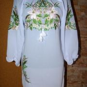"""Вишите жіноче плаття """"Білі орхідеї"""" фото"""