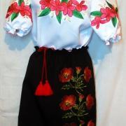 Черная юбка с вышивкой на девочку