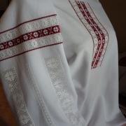 """Жіноча вишиванка """"Мережинка червона"""" фото"""
