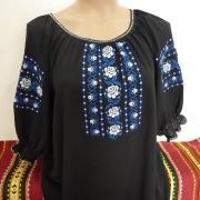 Красивая черная шифоновая блуза купить