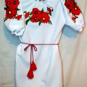 """Женское вышитое платье """"Маки"""""""