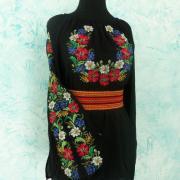 Цветочная женская вышиванка в укрстиле