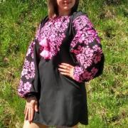 """Платье с вышивкой """"Розовая жизнь"""" фото Крестик Киев"""