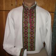 Украинская вышиванка мужская яркие цвета