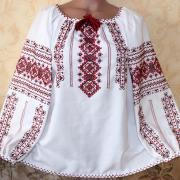 """Женская традиционная вышиванка """"Кудрявая сварга"""" фото Крестик"""