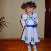 """ФотоПлатье вышиванка для девочки """"Голубые цветочки1"""""""