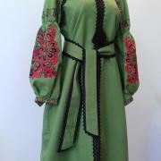 """Женское платье вышиванка """"Зеленая весна"""" фото Крестик Киев"""