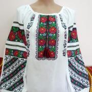 """Женская вышиванка борщивка """"Роза бордовая"""" фото"""