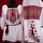 """Женская вышиванка """"Цветочный ромб"""" фото Крестик Киев"""