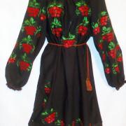 Чорне жіноче шифонове плаття
