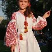"""Детское платье вышиванка """"Катюша"""" фото Крестик"""