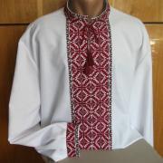 ФотоВышиванка мужская с геометрическим орнаментом