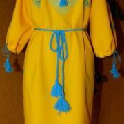 """Вышитое женское платье """"солнечное поле"""" купить"""